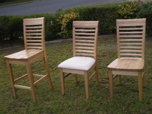 Trendy style barstools and dining chairs